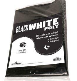 Hydrofarm Black & White Poly, 10' x 25' 5.5 mil