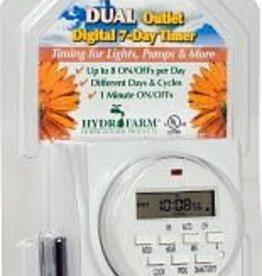 Hydrofarm Timer Double Outlet Digital, Hydrofarm