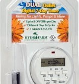 Hydrofarm Timer (Temporizador) Dual Outlet Digital