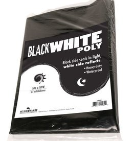 Hydrofarm Black & White Poly, 10' x 10', 5.5 mil