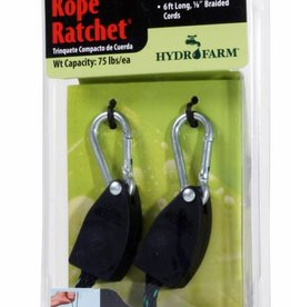 Hydrofarm Reflector Hanging System Rope Ratchet 75 Lbs ea, 2 per pack (CN10005)