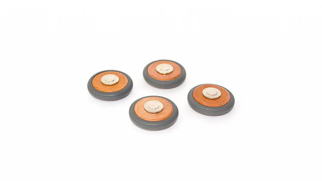 Tegu Tegu Magnetic Blocks Wheels 4 Pack