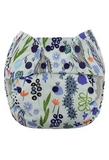 Blueberry One Size Simplex Organic Cotton All-in-One w/soaker