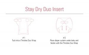 Thirsties Baby Thirsties Stay Dry Duo Insert