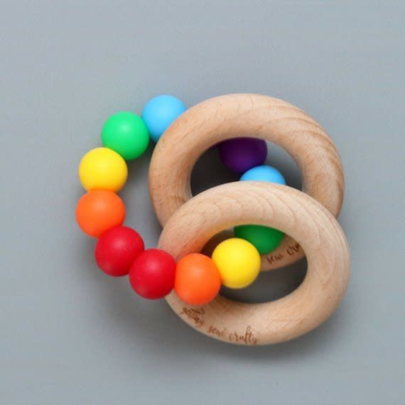 Getting Sew Crafty Teething Toy - Silicone + Wood