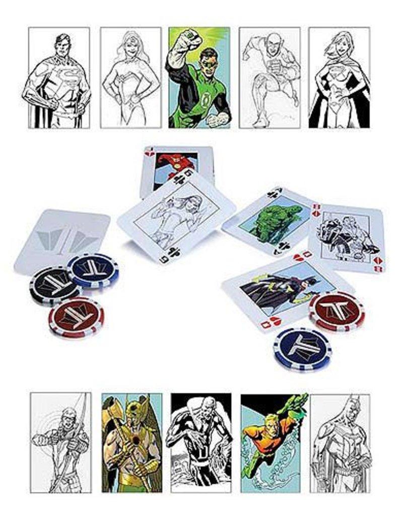 DC COMICS DC COMICS JUSTICE LEAGUE STARTER POKER SET