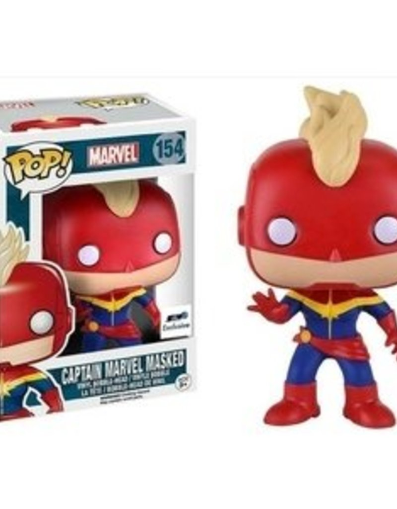 FUNKO POP CAPTAIN MARVEL MASKED VINYL FIG GTS EXCL