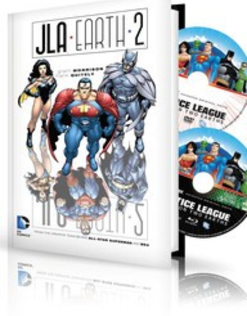 DC COMICS JLA EARTH 2 HC BOOK & DVD BLU RAY SET