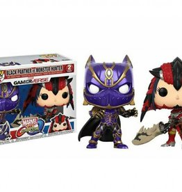 FUNKO POP MARVEL VS CAPCOM BLACK PANTHER MONSTER HUNTER 2 PACK VINYL FIG