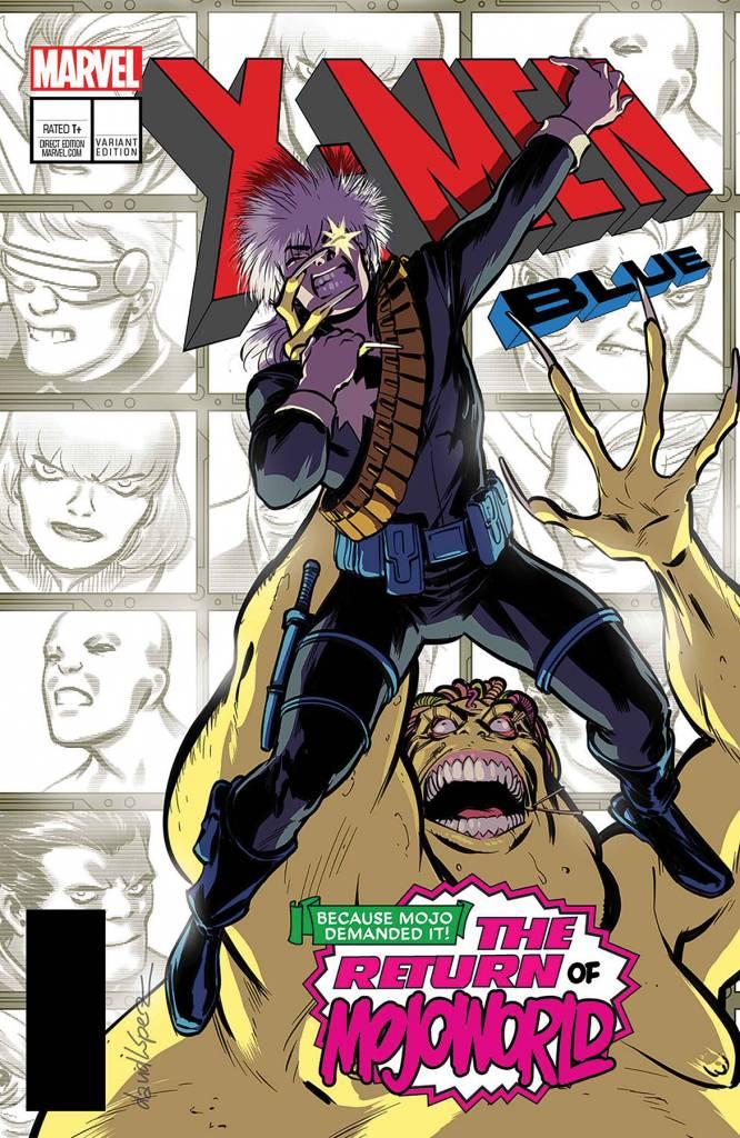 MARVEL COMICS X-MEN BLUE #13 LOPEZ LH VAR LEG