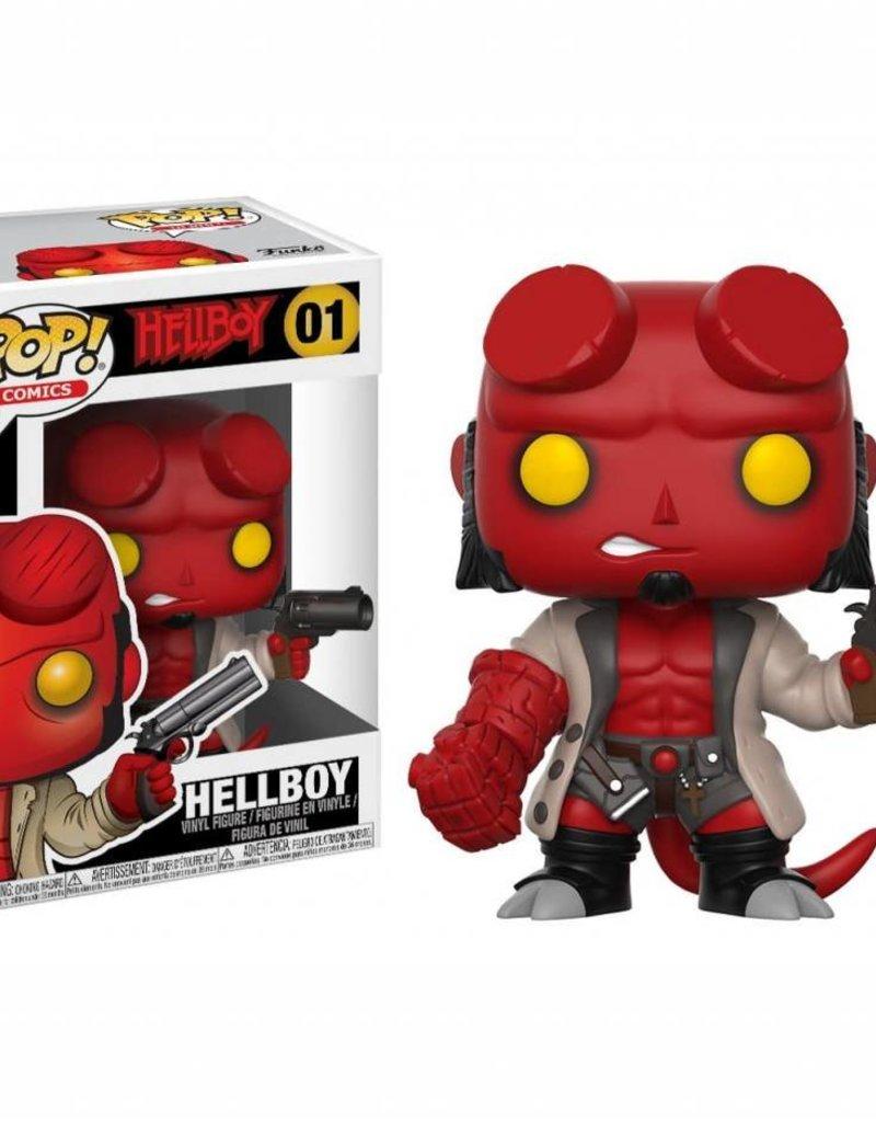 FUNKO POP HELLBOY COMICS HELLBOY (JACKET & NO HORNS) VINYL FIG