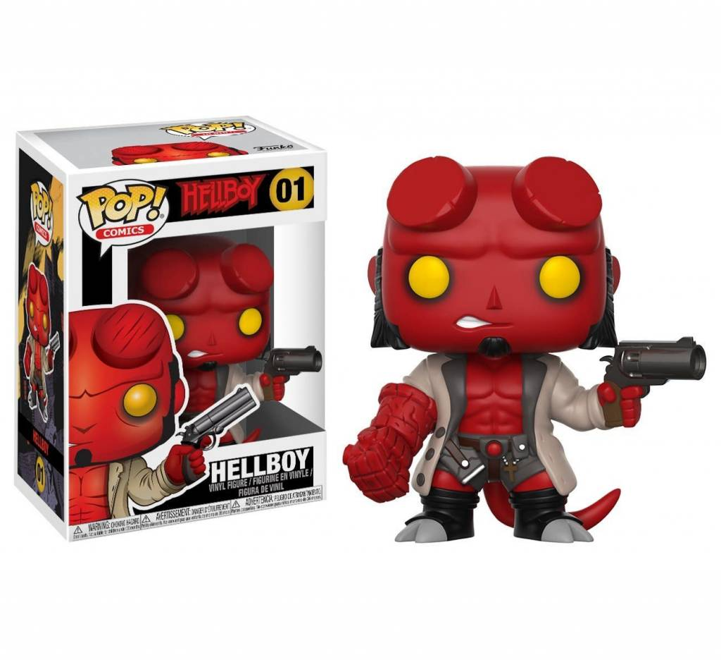FUNKO POP HELLBOY COMICS HELLBOY (JACKET & NO HORNS) VINYL FIG