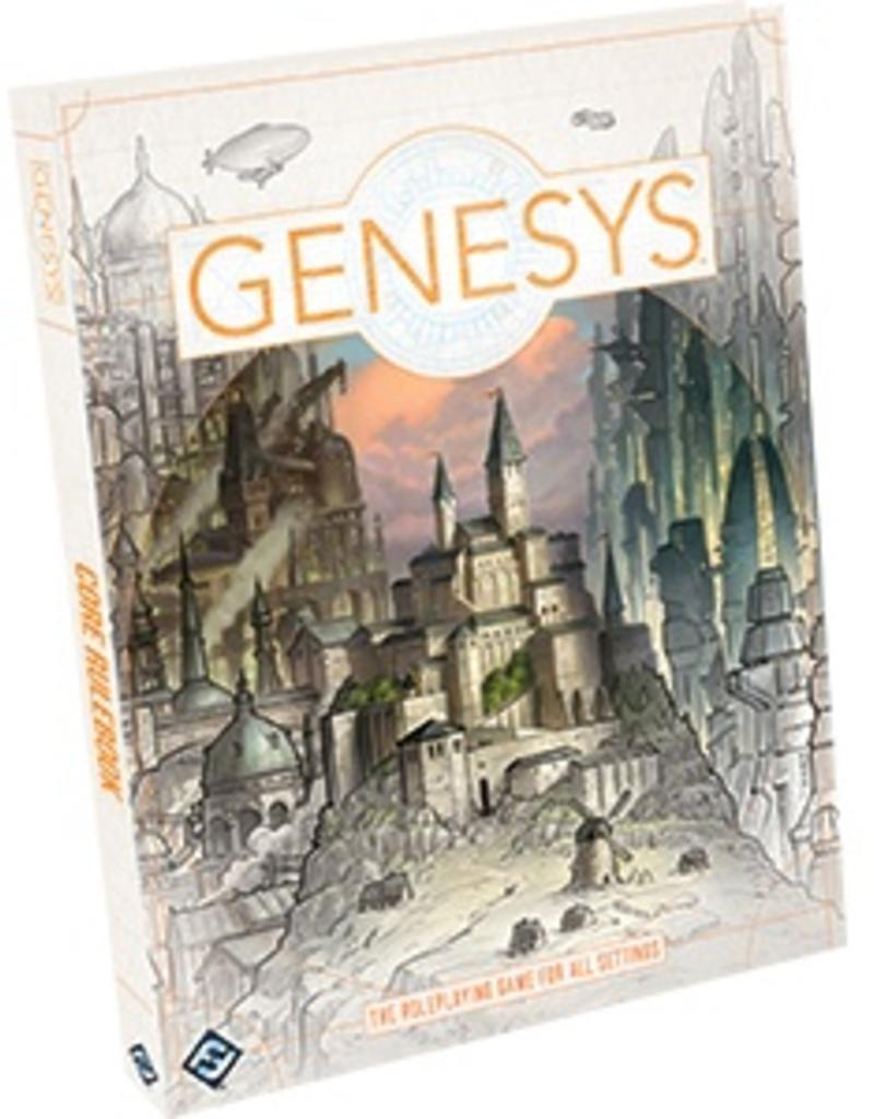 FANTASY FLIGHT GAMES GENESYS THE ROLEPLAYING FAME FOR ALL SETTINGS CORE RULE BOOK