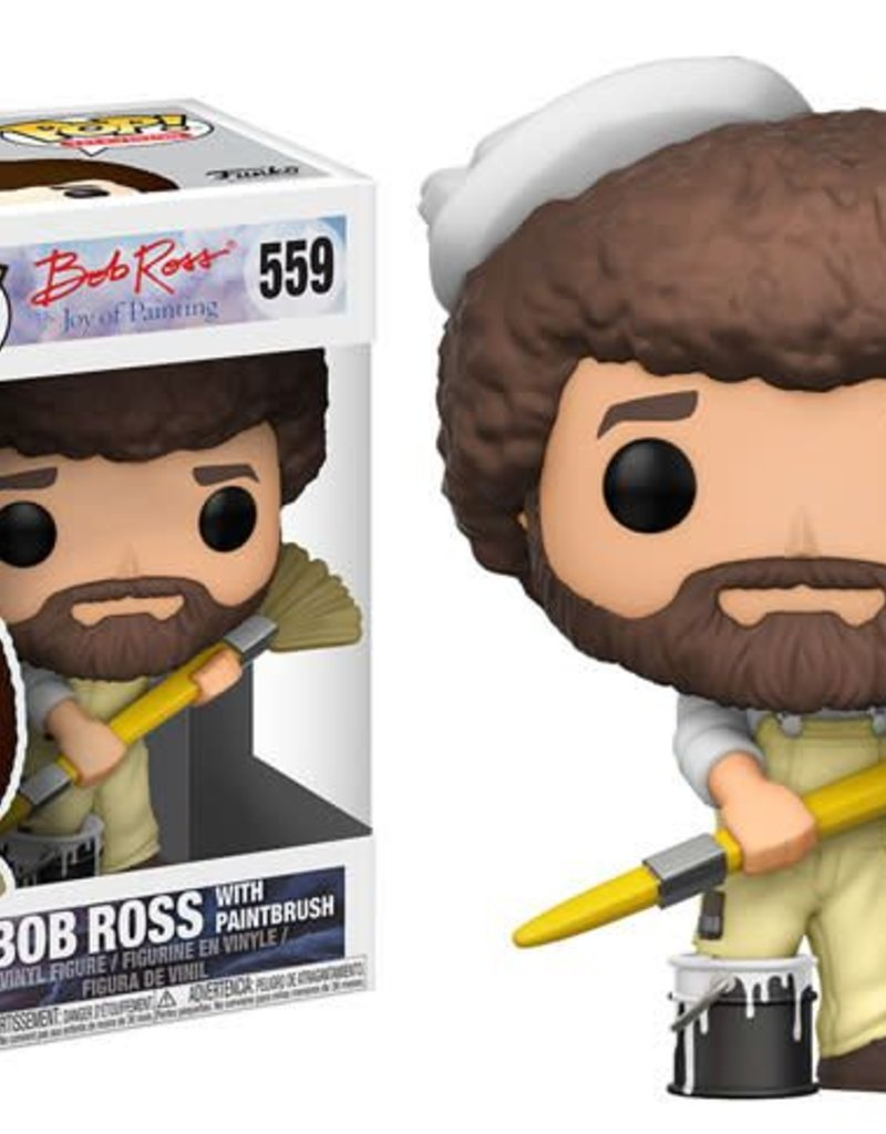 FUNKO POP BOB ROSS WITH PAINTBRUSH VINYL FIG