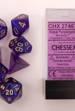 CHESSEX CHX 27467 7 PC POLY DICE SET BOREALIS ROYAL PURPLE