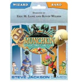 STEVE JACKSON GAMES MUNCHKIN CCG WIZARD/BARD STARTER SET