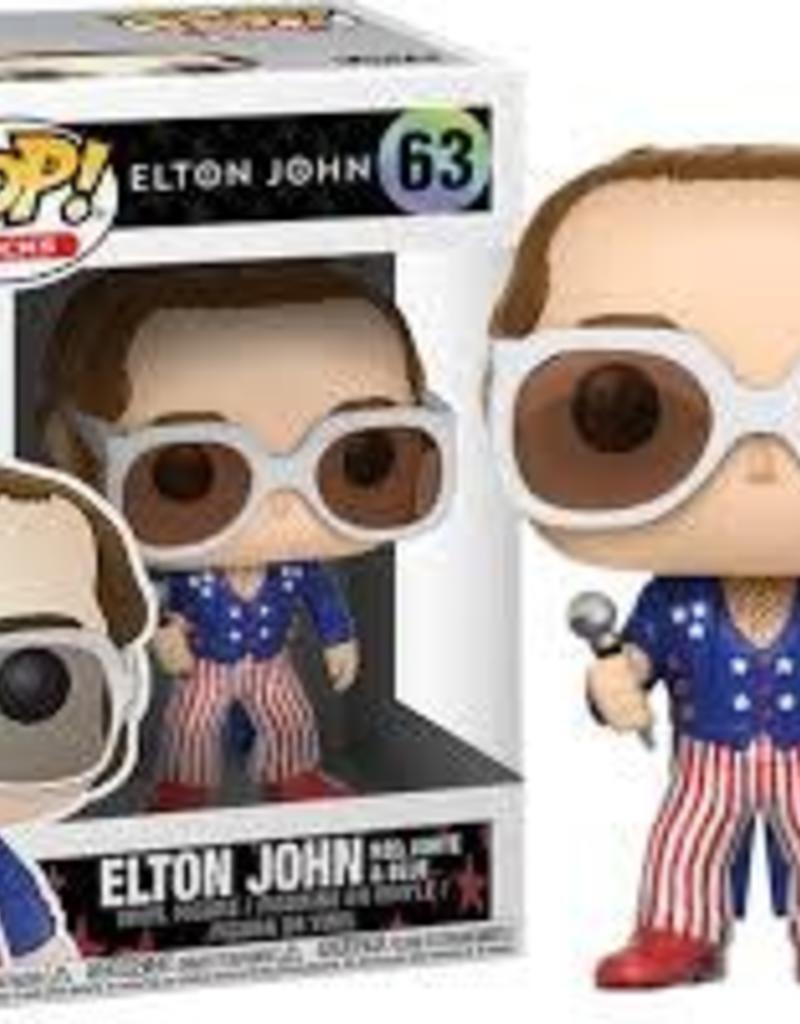 FUNKO POP ROCK ELTON JOHN RED WHITE & BLUE VINYL FIG