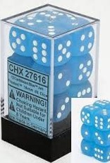 CHESSEX CHX 27616 16MM D6 DICE BLOCK FROSTED CARRIBEAN BLUE