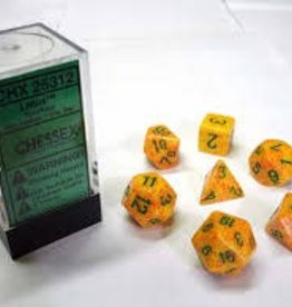 CHESSEX CHX 25312 7 PC POLY DICE SET SPECKLED LOTUS