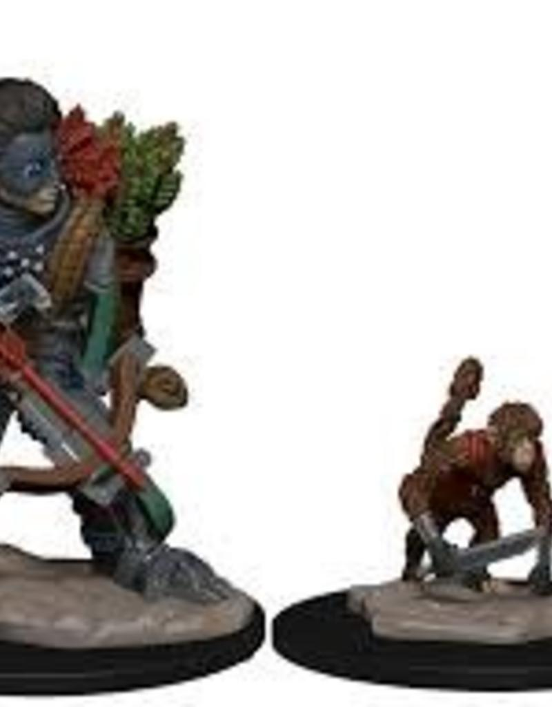 WIZKIDS D&D NOLZUR'S MARVELOUS WARDLINGS BOY ROGUE & MONKEY PAINTED MINI
