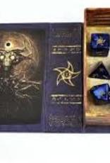 ELDER DICE 9 CT POLYHEDRAL DICE - ASTRAL ELDER SIGN  BLUE