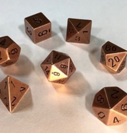 CHESSEX CHX 27024 7CT POLYHEDRAL METAL DICE COPPER