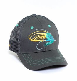 Rep Your Water Salmon Fly Hat - Gray