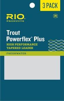 RIO Powerflex Plus Trout Leaders, (3 Pack) -