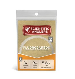Scientific Anglers Fluorocarbon Leaders, 2 pack -