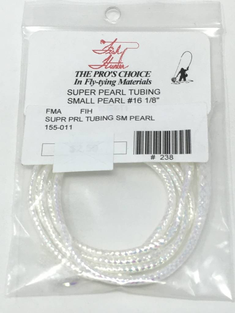 Fish Hunter Pearlescent Mylar Tubing, Pearl -