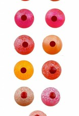 Hareline Dubbin Fusion Blood Drop Egg Beads, 8mm. -
