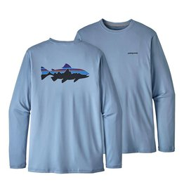 Patagonia Men's Graphic Tech Fish Tee - Fitz Roy Trout: Railroad Blue M