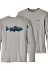 Patagonia Men's Graphic Tech Fish Tee - Fitz Roy Trout: Drifter Grey L