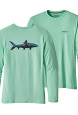 Patagonia Men's Graphic Tech Fish Tee - Fitz Roy Bonefish: Bend Blue M
