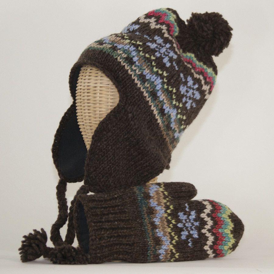 The Sweater Venture Flap Cap & Mitten Set