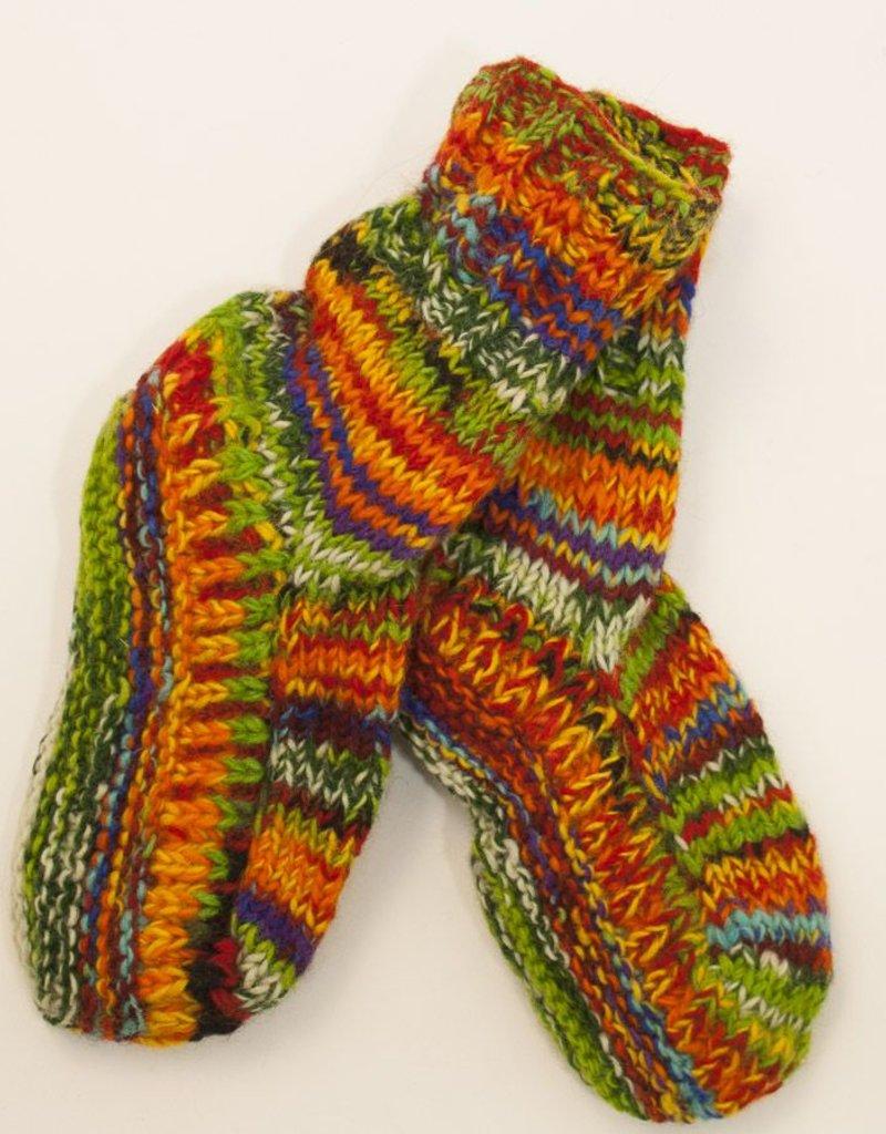 The Sweater Venture Snowfox Fleece Lined Long Slipper