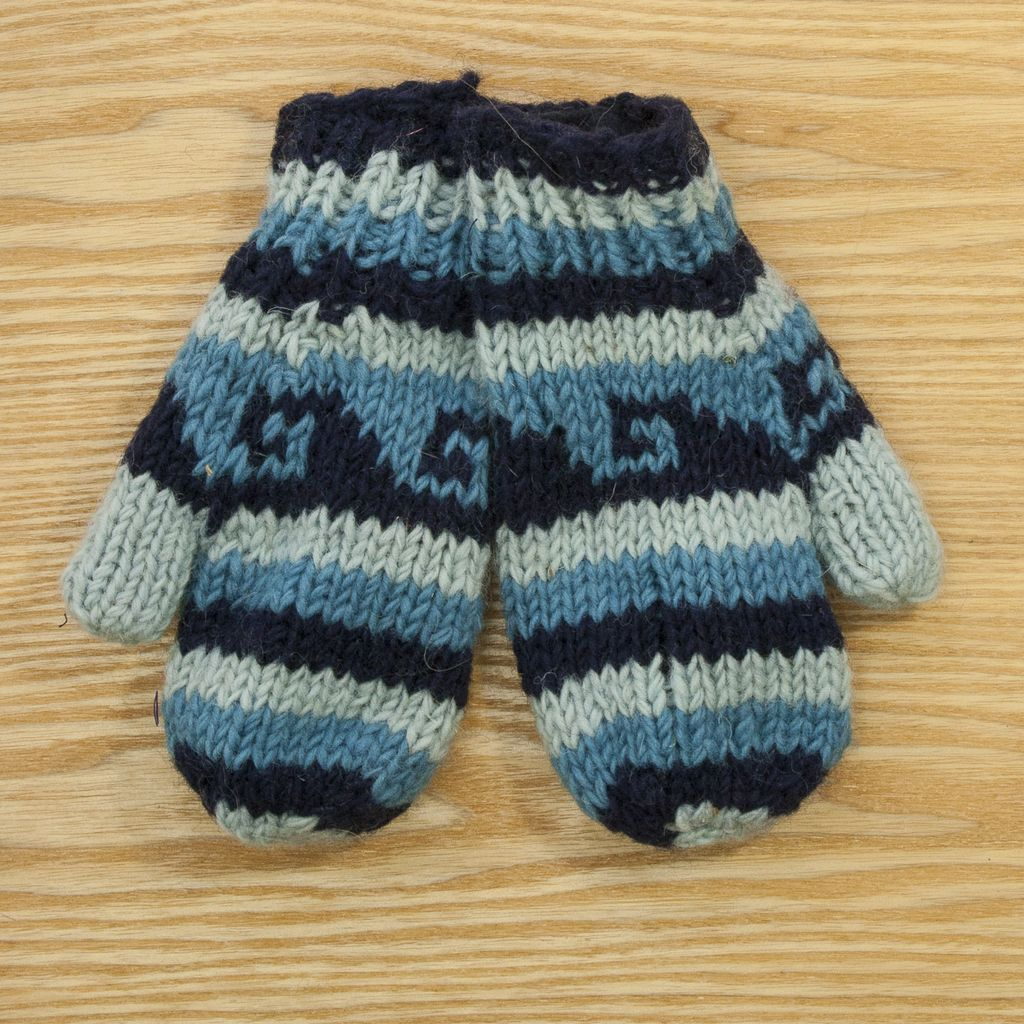 The Sweater Venture Children's Snowfox Fleece Lined Mittens