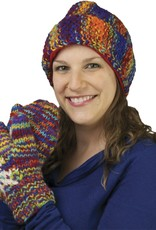 The Sweater Venture Snowfox Fleece Lined Popcorn Stitch Cap