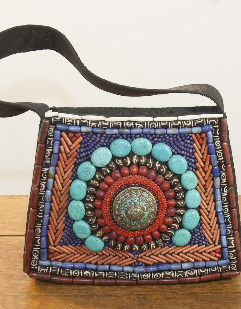 Handbag with Inlaid Stones