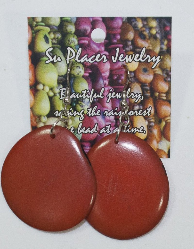 Su Placer Tagua Slices Earrings