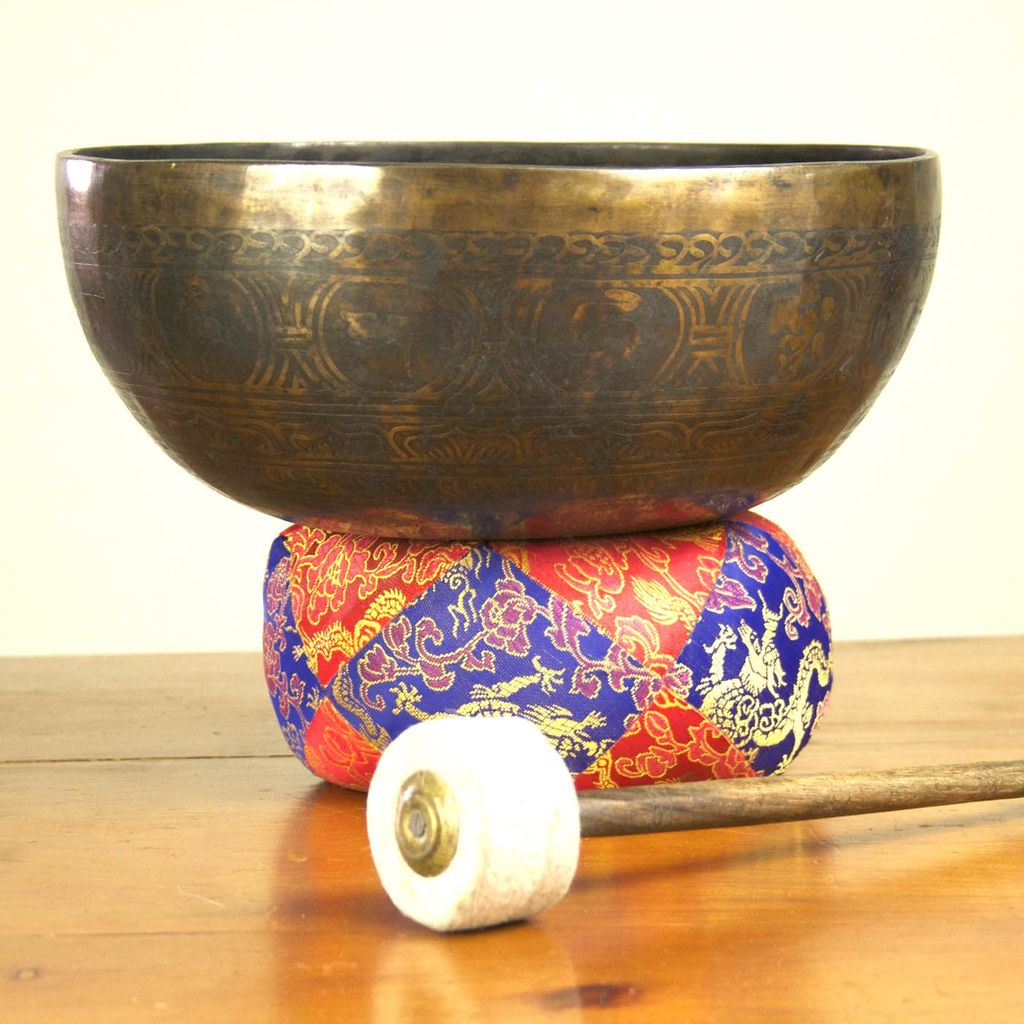The Sweater Venture Singing Bowl, Base & 2 Mallets