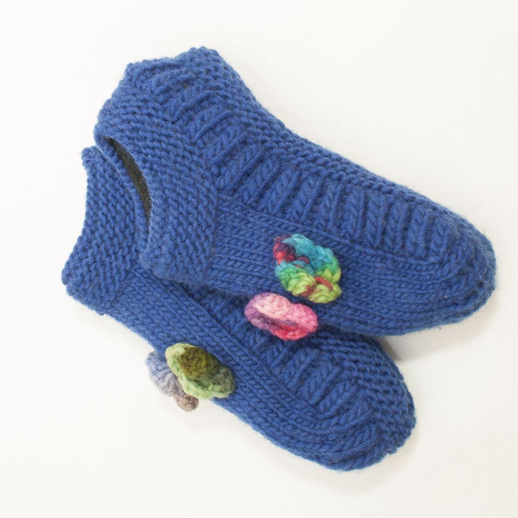 The Sweater Venture Booties w/Flower
