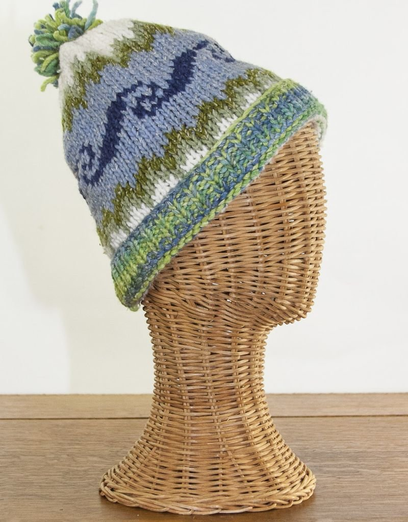 The Sweater Venture Icelandic Ski Cap in 50% Cotton & 50% Wool