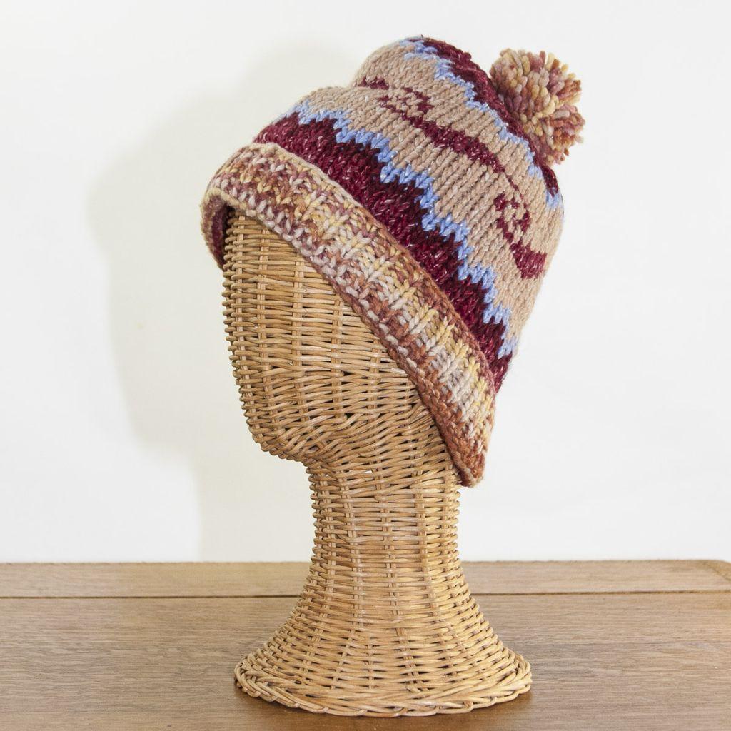 The Sweater Venture Icelandic Ski Cap in 50% Cotton & 50% Wool