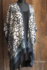Cocoon Long Silk Kimono