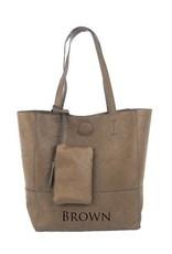 Joy Accessories Raw Edgle Tote Bag