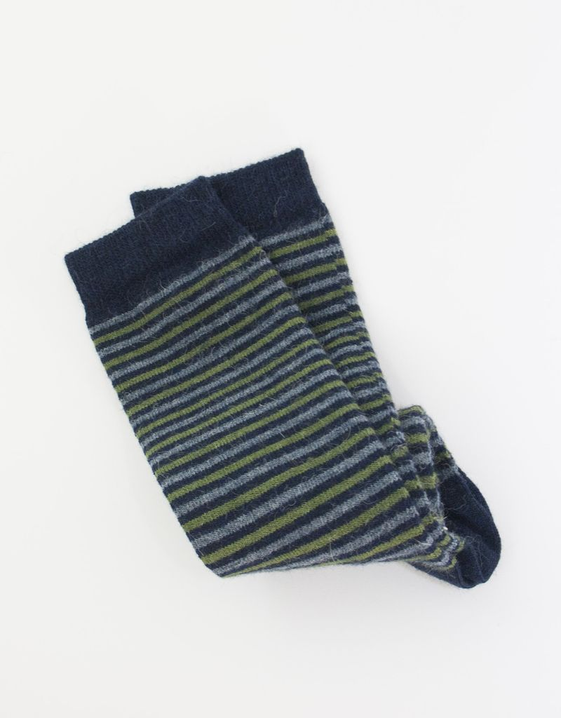 Tabask/TeyArt Narrow Stripe Alpaca Socks