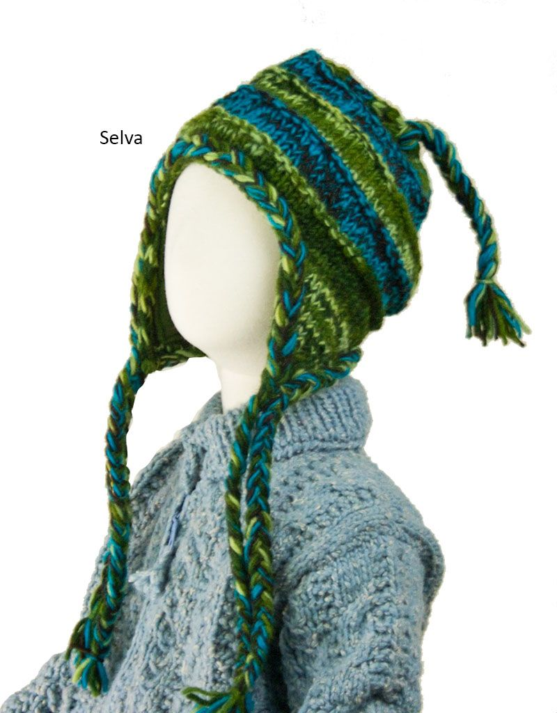 The Sweater Venture Children's Snowfox Fleece Lined Flap Cap