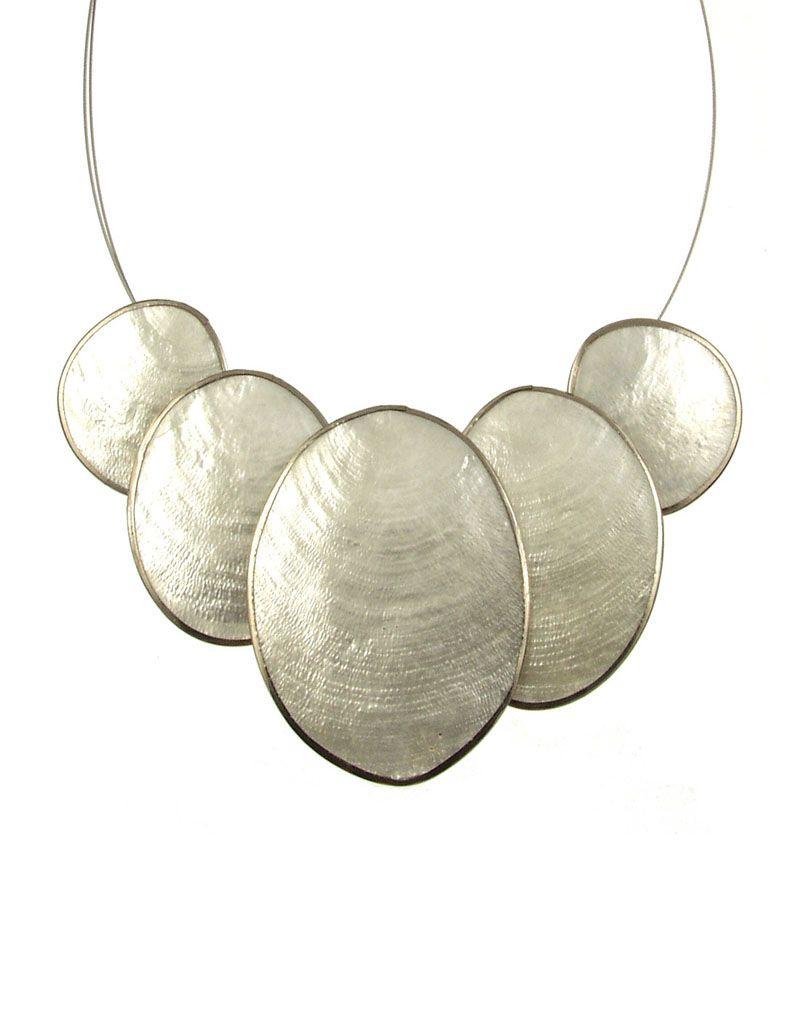 ORIGIN 5 Piece Oval Capiz Necklace