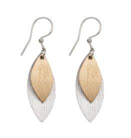 ORIGIN Textured Leaf Earrings
